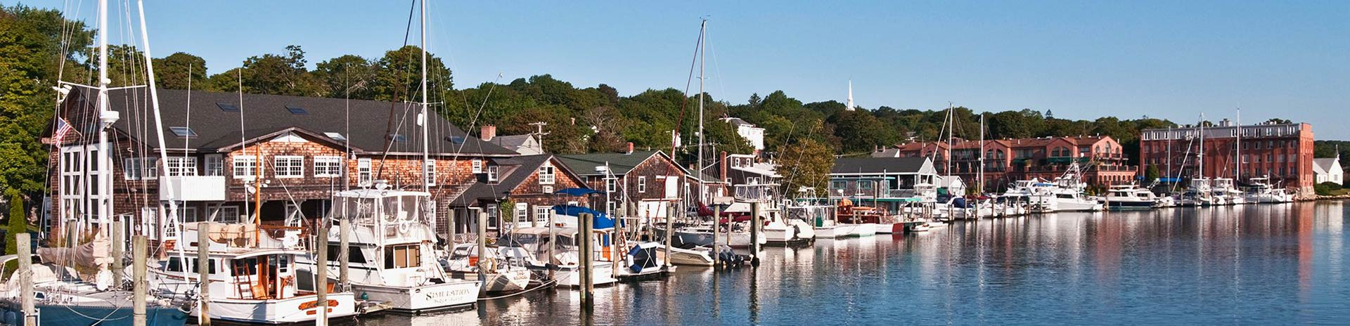 Marina in Mystic Connecticut